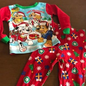 Nickelodeon paw patrol Christmas pajama set 3T